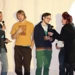 Remo Rauscher und Christoph Einfalt (Mitte) bei der Preisverleihung