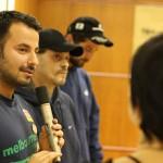 Hüseyin Tabak, Regisseur von KICK OFF, mit Hansi und Serkan