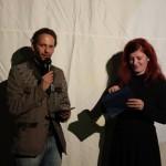 Stefan Deller und Martina Stöckl vom film:riss-Team bei der Preisverleihung