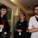 Jurorin Karin Fisslthaler, film:riss-Graphikerin Judith Holzer und Festivalleiter Dominik Tschütscher