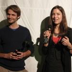 David Bohun und Catalina Molina nehmen den Fiktion-Jurypreis entgegen