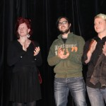 Martina Stock, Samuel Unterkircher und James Weissenböck vom film:riss-Team