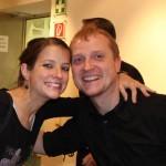 Teresa Achleitner und James Weissenböck (Verantwortlicher film:riss-Gastro)